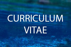 The words Curriculum Vitae on a background of water
