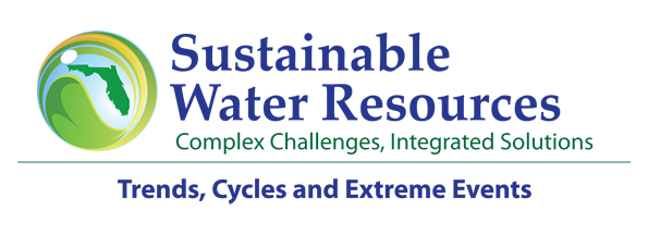 2016 UF Water Institute Symposium Logo: Sustainable Water Resources - Complex Challenges, Integrated Solutions; Trends, Cycles, and Extreme Events