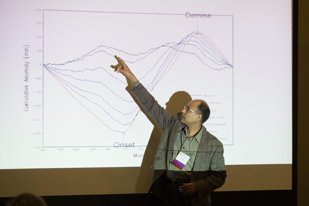 Symposium speaker presenting their research