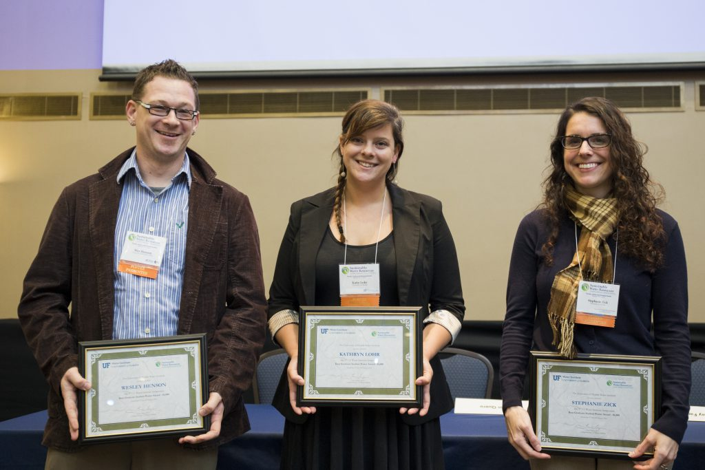 The three graduate poster winners